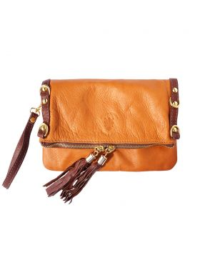 Giorgia GM leather clutch - Brown