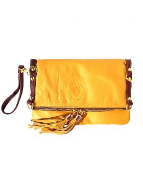 Giorgia GM leather clutch - Yellow