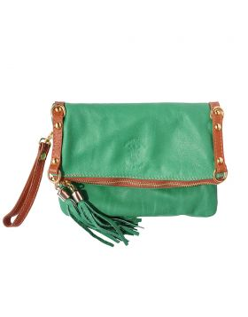 Giorgia GM leather clutch - Green
