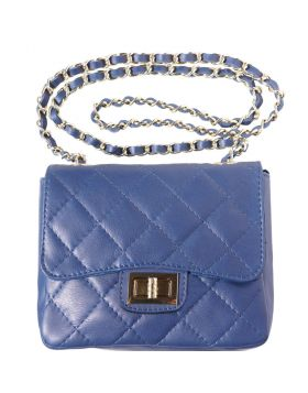 Be exclusive leather bag - Blue