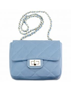 Be exclusive leather bag - Lite Cyan