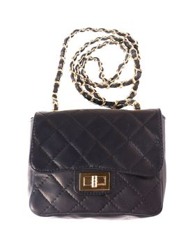 Be exclusive leather bag - Black