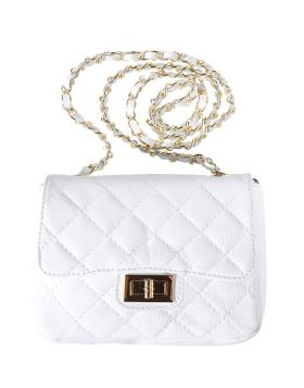 Be exclusive leather bag - White