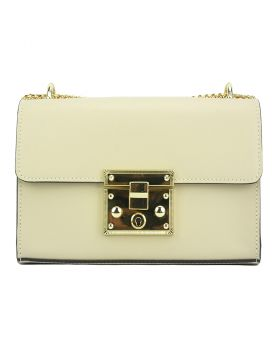 Victoire leather bag - Beige