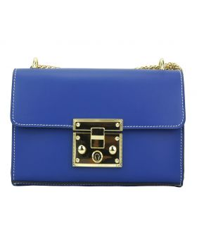 Victoire leather bag - Electric Blue