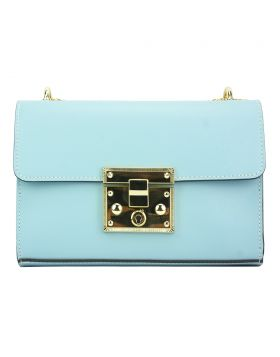 Victoire leather bag - Light Cyan