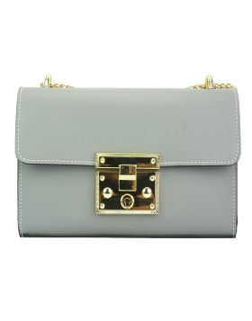Victoire leather bag - Grey