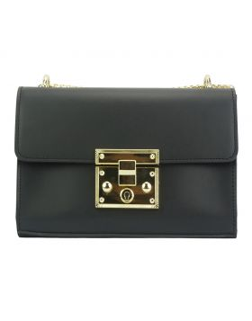 Victoire leather bag - Black