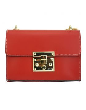 Victoire leather bag - Red