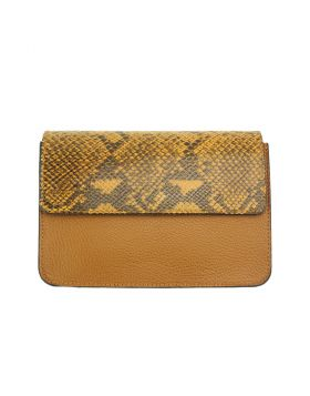 Iolanda leather Cross-body bag - Yellow