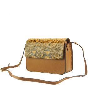Iolanda leather Crossbody bag - Tan