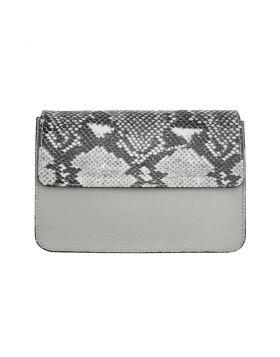 Iolanda leather Cross-body bag - Grey
