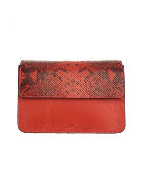 Iolanda leather Cross-body bag - Red
