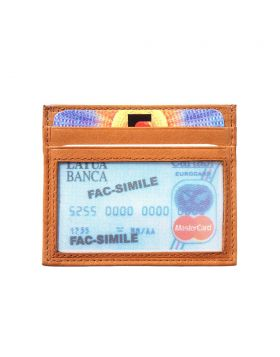 Credit card holder with transparent window - Tan