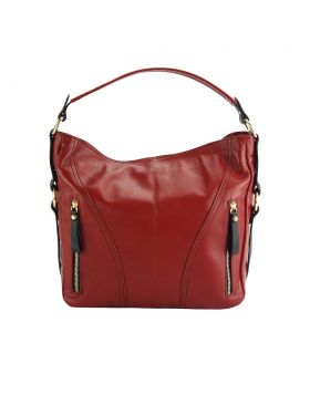 Sabrina leather shoulder bag - Red