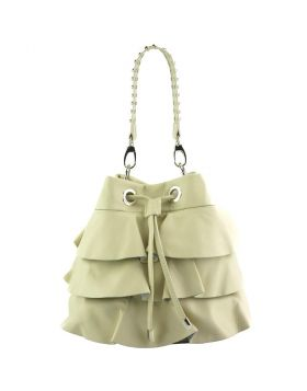 Ileana leather bucket bag - Beige