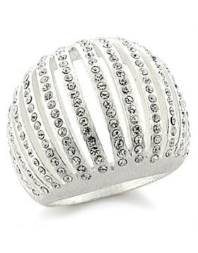 Ring Brass Silver Top Grade Crystal Clear