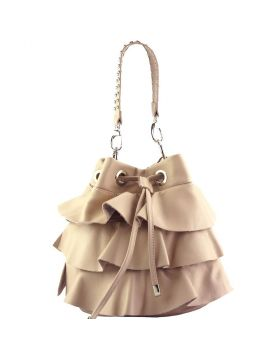 Ileana leather bucket bag - Pink