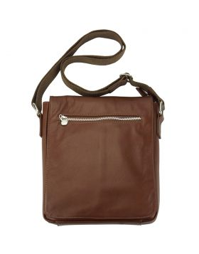 Messenger Camillo GM with genuine leather - Brown