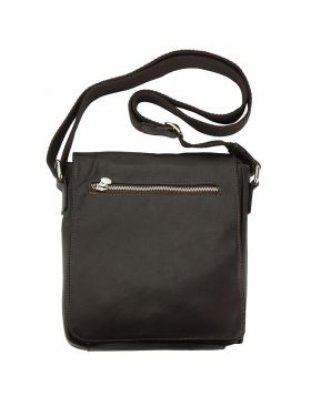 Messenger Camillo GM with genuine leather - Dark Brown
