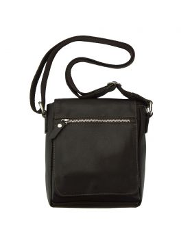 Messenger Camillo with genuine leather - Black