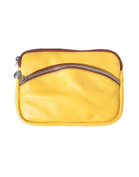 Classic Shoulder Handbag - Yellow/Brown