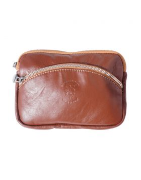 Classic Shoulder Handbag - Brown/Tan