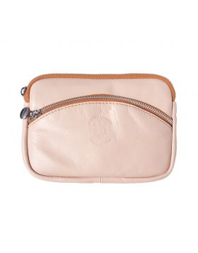 Classic Shoulder Handbag - Pink/Tan