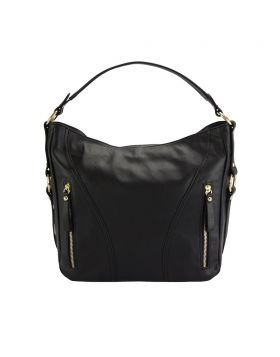 Sabrina leather shoulder bag - Black