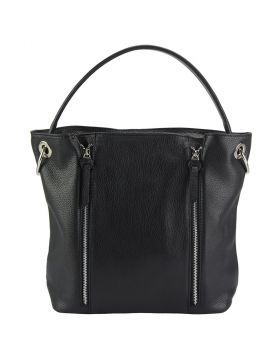 Silvia leather bag - Black