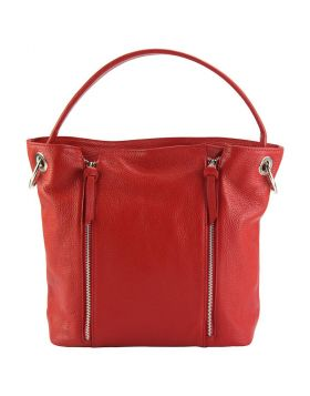 Silvia leather bag - Red