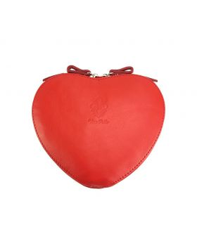 Cuore leather crossbody bag - Red