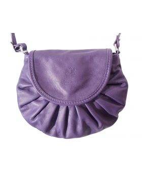 Cecilia leather crossbody bag - Purple