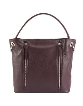 Silvia leather bag - Bordeaux