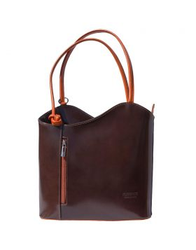 Cloe leather shoulder bag - Dark Brown