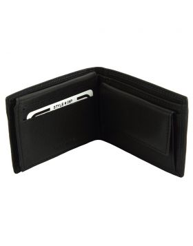 Saffiro Mini leather wallet - Black