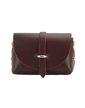 Martina Mini leather bag - Bordeaux