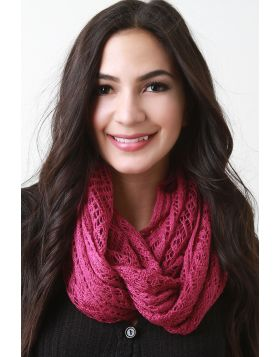 Ethereal Fine Knit Fabrication Scarf -  Magenta