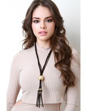 Belle Of The Ball Necklace -  Black