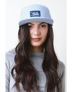 Snapback Polka Dot Cali Flag Cap -  Blue