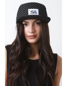 Snapback Polka Dot Cali Flag Cap -  Black/White