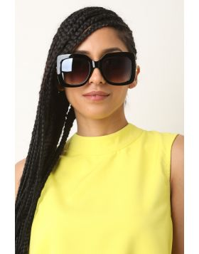 Diva Oversized Sunglasses -  Black