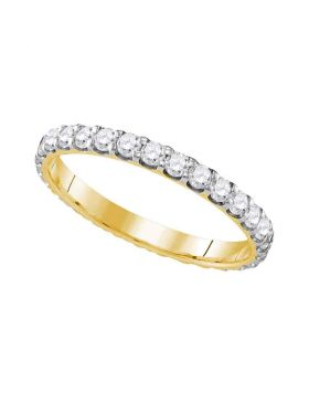 10k Yellow Gold Womens Round Diamond Bridal Wedding Anniversary Ring Band 1.00 Cttw