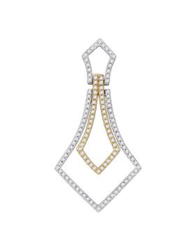 14kt Two-tone Gold Womens Round Diamond 2-tone Pendant 3/8 Cttw