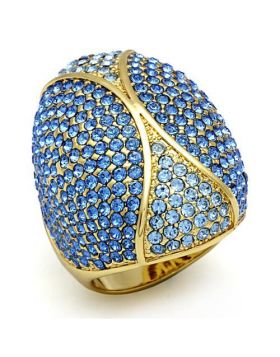 Ring Brass Flash Gold Top Grade Crystal Multi Color