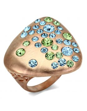 Ring Brass Rose Gold Top Grade Crystal Multi Color