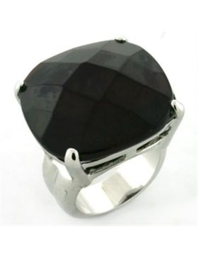 Ring Brass Rhodium AAA Grade CZ Garnet