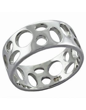 Ring 925 Sterling Silver High-Polished No Stone No Stone