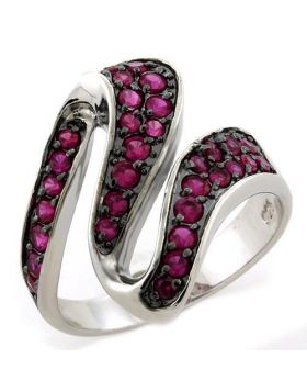 Ring 925 Sterling Silver IP Black(Ion Plating) AAA Grade CZ Siam