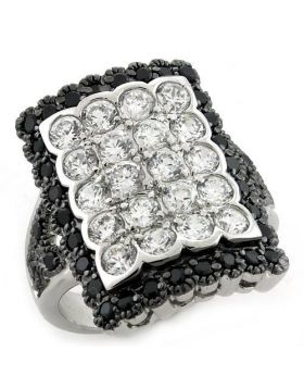 Ring 925 Sterling Silver Special Color AAA Grade CZ Multi Color